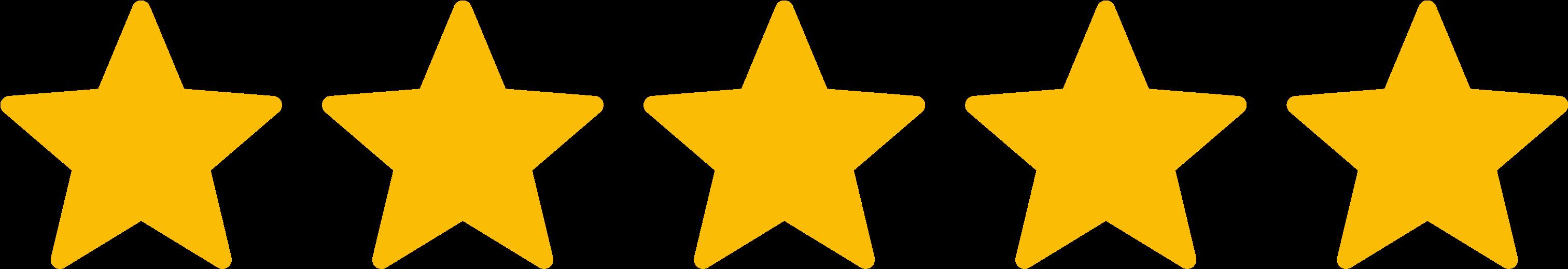 icône cinq étoiles