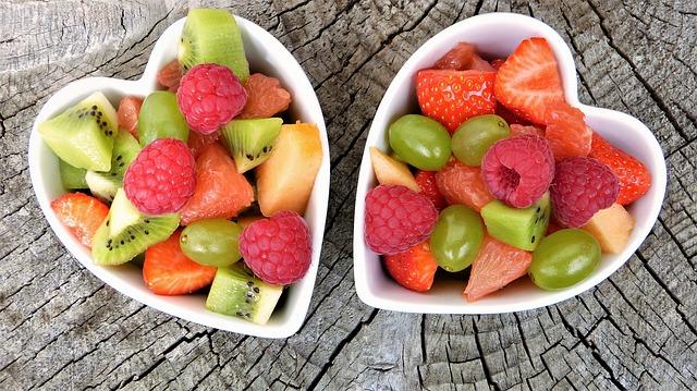 Dessert assortiment de fruits sains