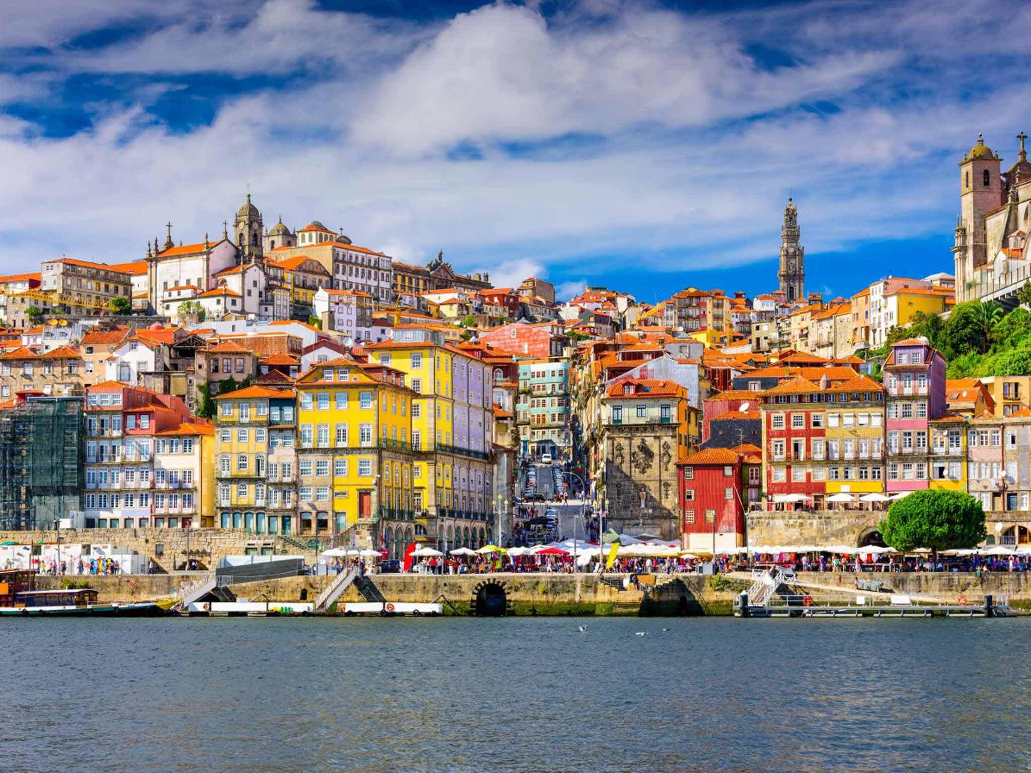 Vue de la ville de Porto au Portugal