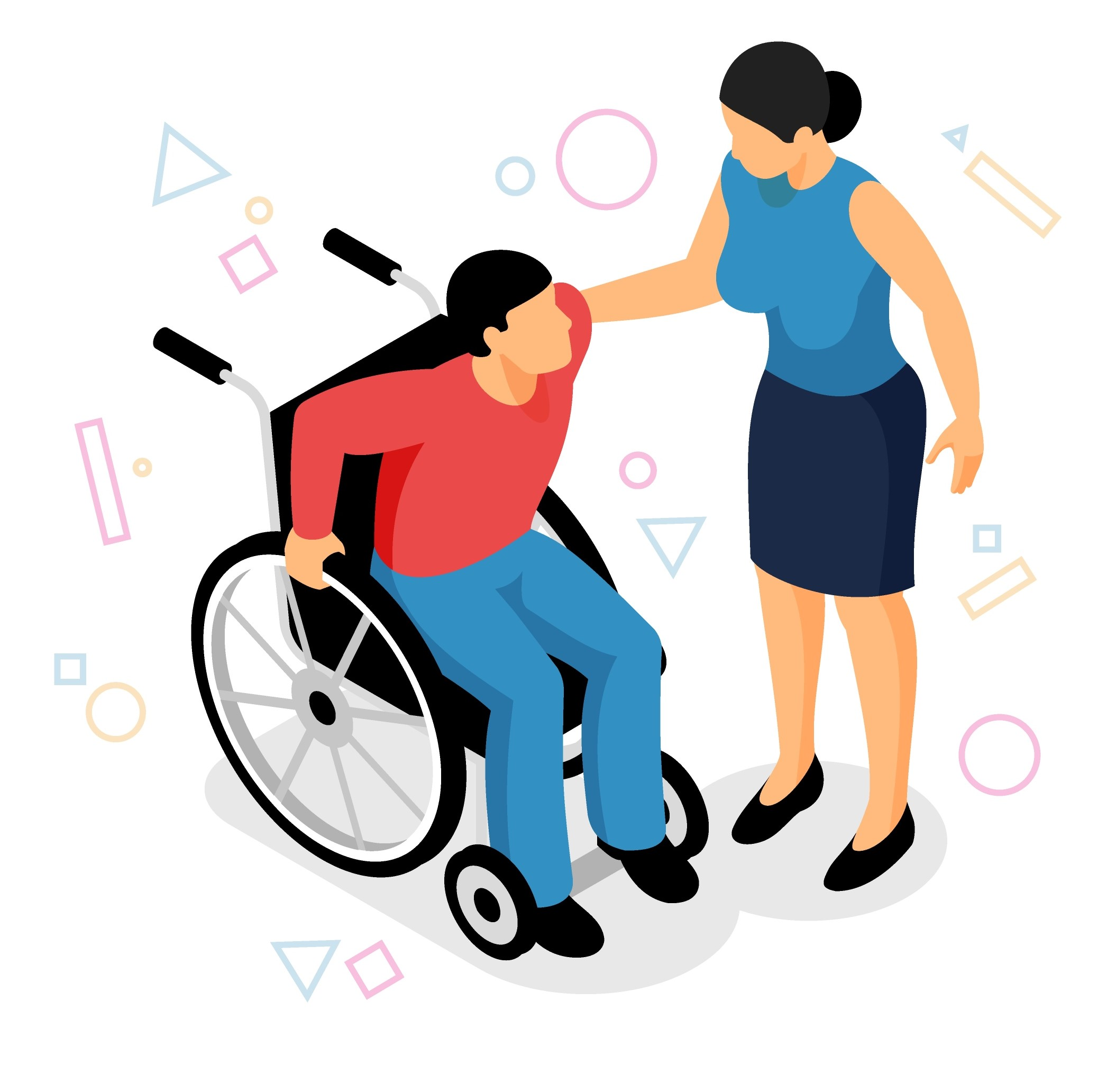 personne en situation de handicap illustration
